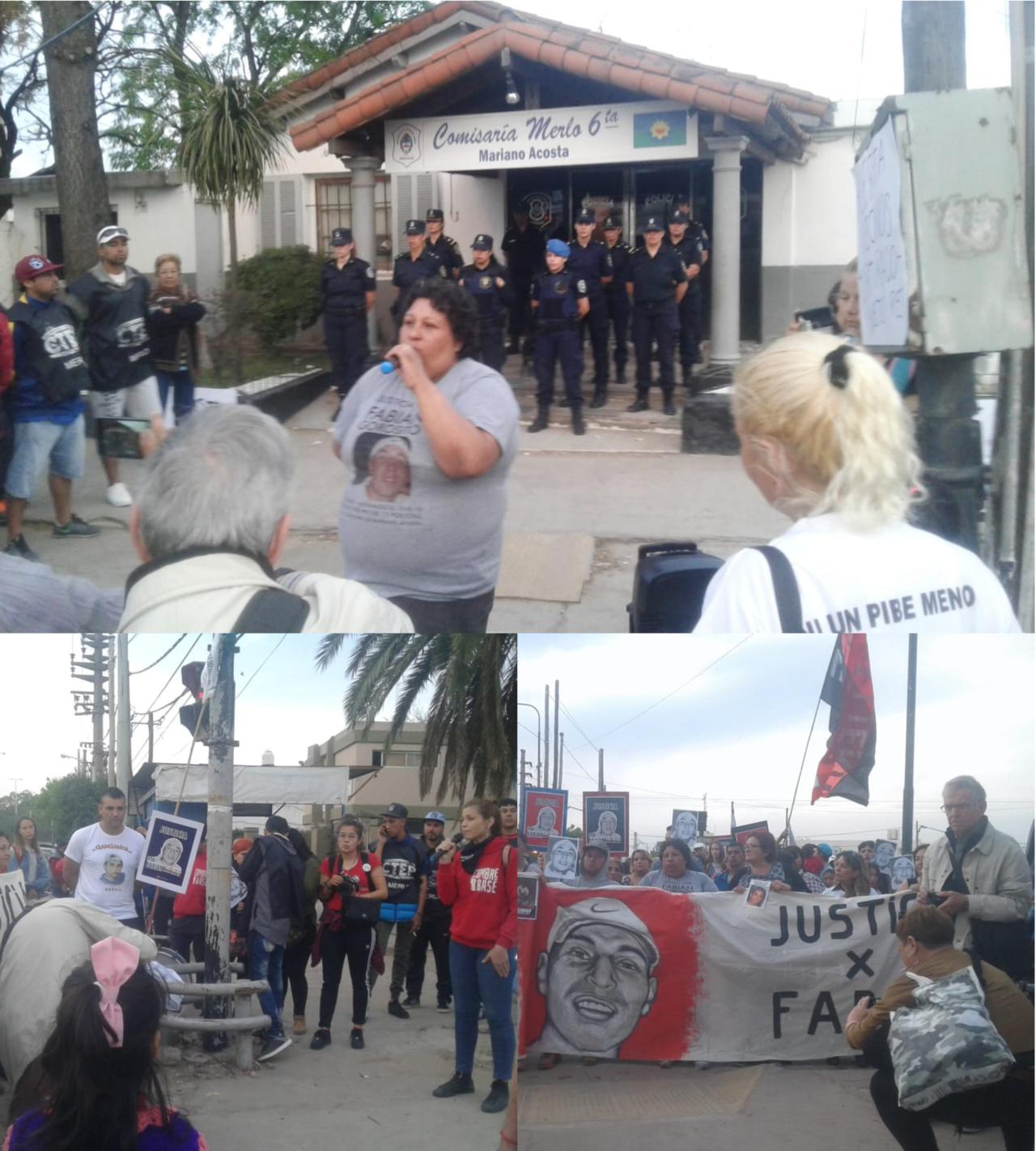 Escrache a la Comisaría 6° de Mariano Acosta, solidaridad con María Viera y los testigos