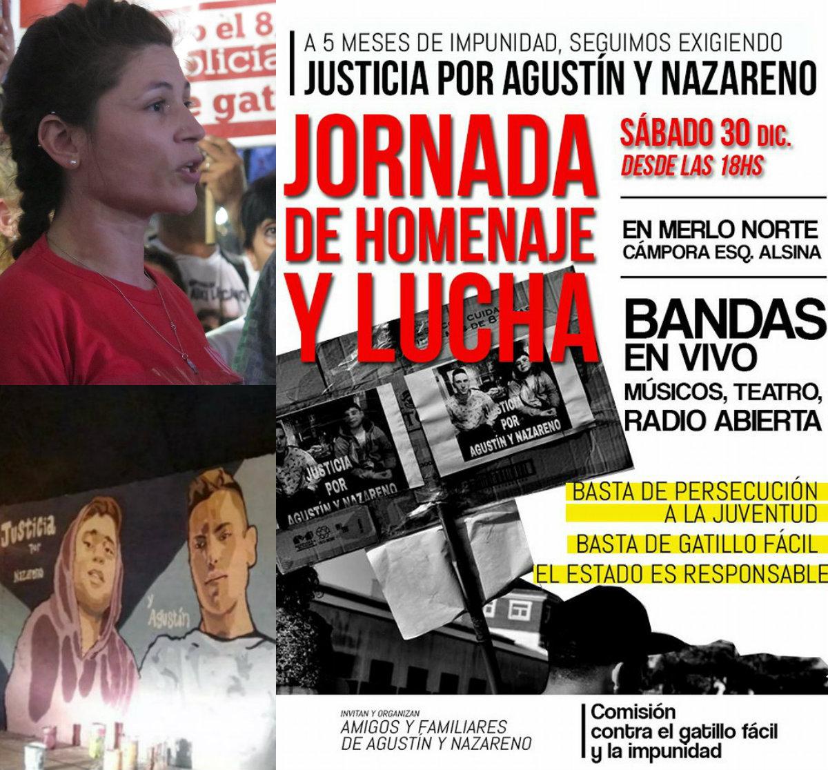 JUSTICIA PARA AGUSTÍN Y NAZARENO- 30/12- 18 HS- CÁMPORA Y ALSINA - MERLO NORTE