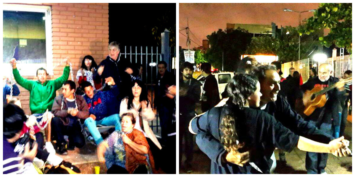 Los compañeros en lucha arrancaron el arresto domiciliario: ¡Gran festejo popular!