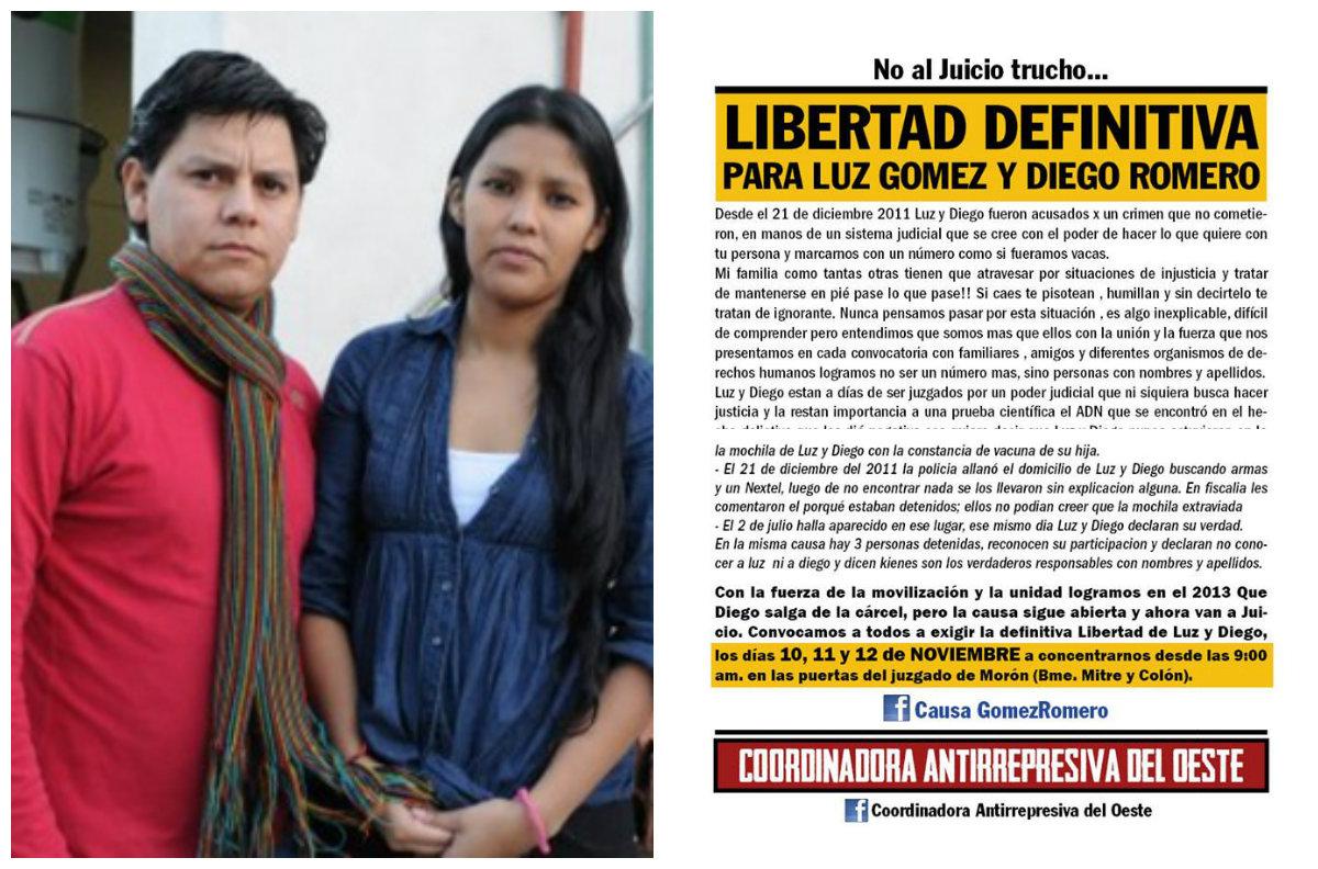 CAUSA ARMADA: ¡Libertad a Luz y Diego!