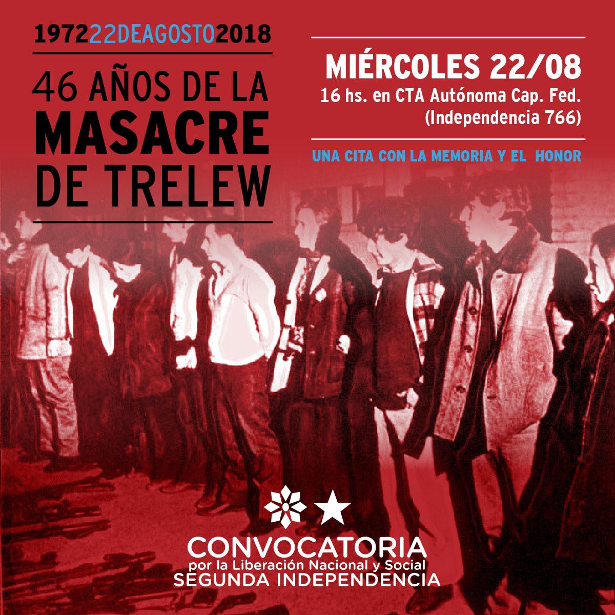 Acto por Trelew de Convocatoria Segunda Independencia:!Siempre presentes!