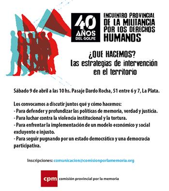 A 40 años del golpe: ¿Qué hacemos? Las estrategias de intervención en el territorio
