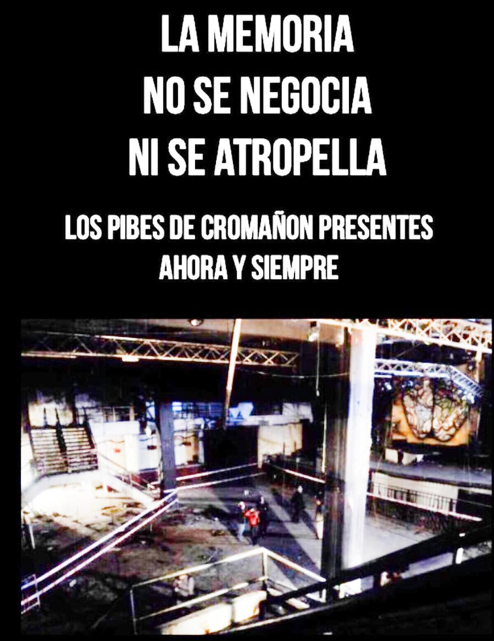Conferencia de prensa x Cromañón y la preservación de la memoria- 30/1 -17:30 horas - Santuario frente a Plaza Once - Caba
