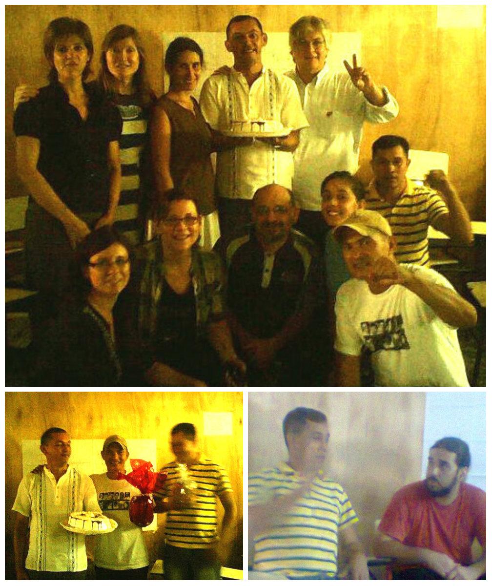 Festejo en el sótano de Tacumbú