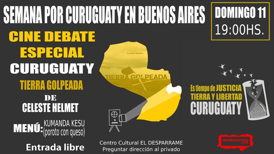 A cinco años de la masacre de Curuguaty en Paraguay, actividades  en Buenos Aires