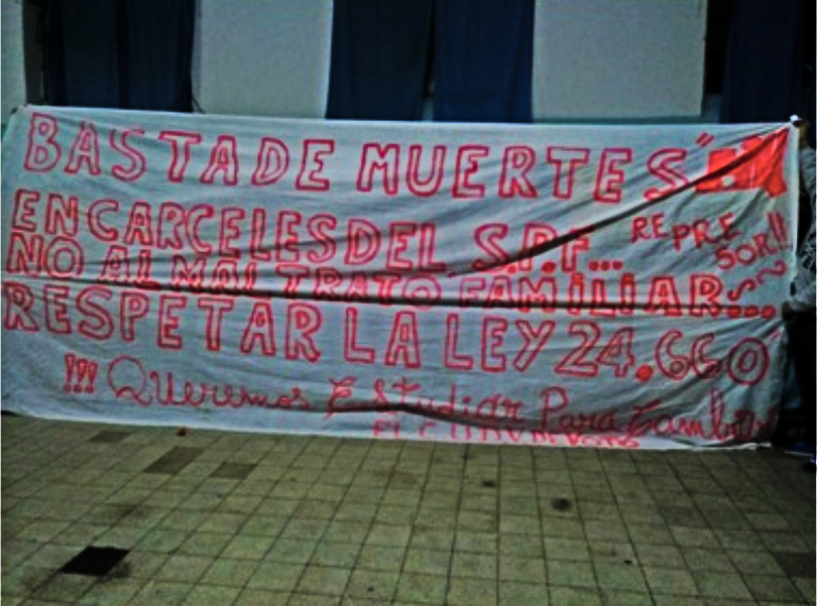 Cárcel de Devoto en estado de protesta