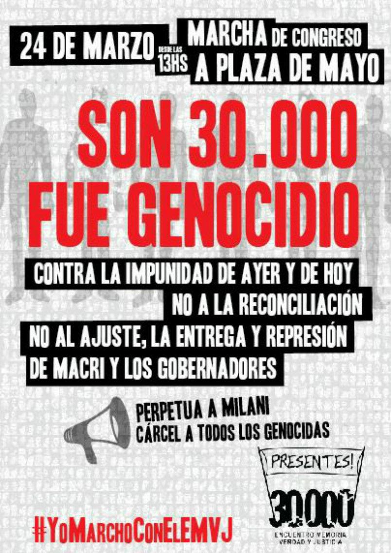 SON 30.000- FUE GENOCIDIO