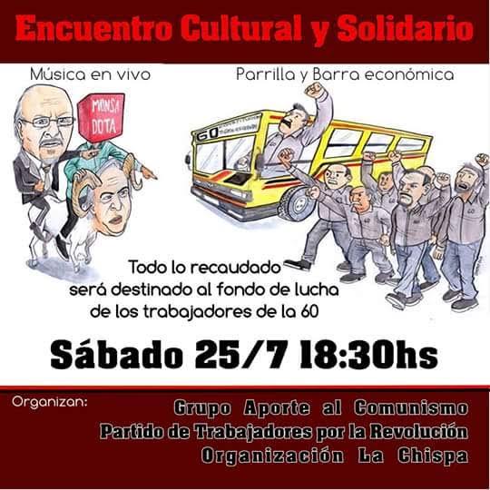 Encuentro Solidario con los trabajadores de la Línea 60