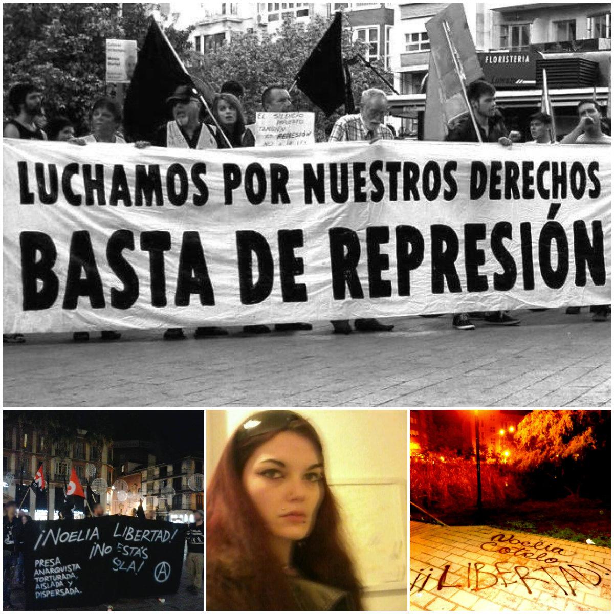Ayer se realizó en Murcia una concentración por la compañera Noelia Cotelo, símbolo del encarnizamiento del estado español contra los que luchan