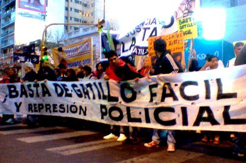 Uno de los tantos reclamos contra la represión estatal descargada contra los más vulnerables