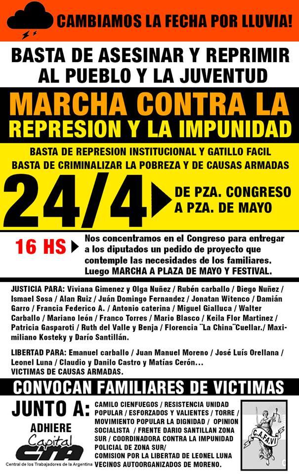 De Congreso a Plaza de Mayo contra la represión