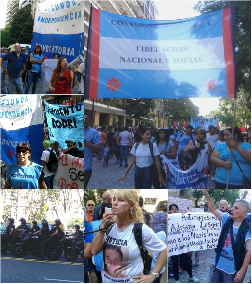 24 de Marzo: Convocatoria Segunda Independencia escrachó a Patricia Bullrich Pueyrredón
