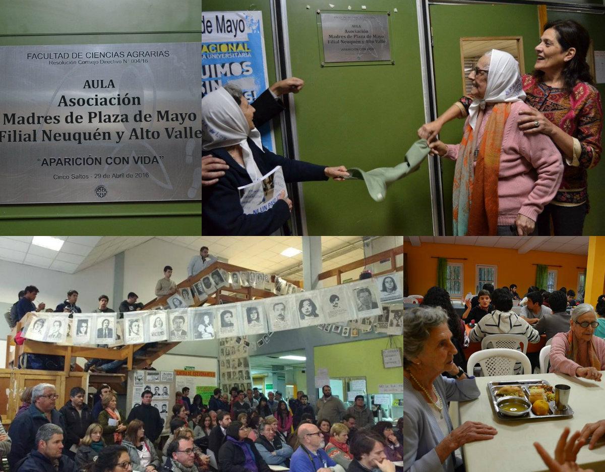 Aula universitaria con el nombre de las Madres de Plaza de Mayo, Filial Neuquén y Alto Valle