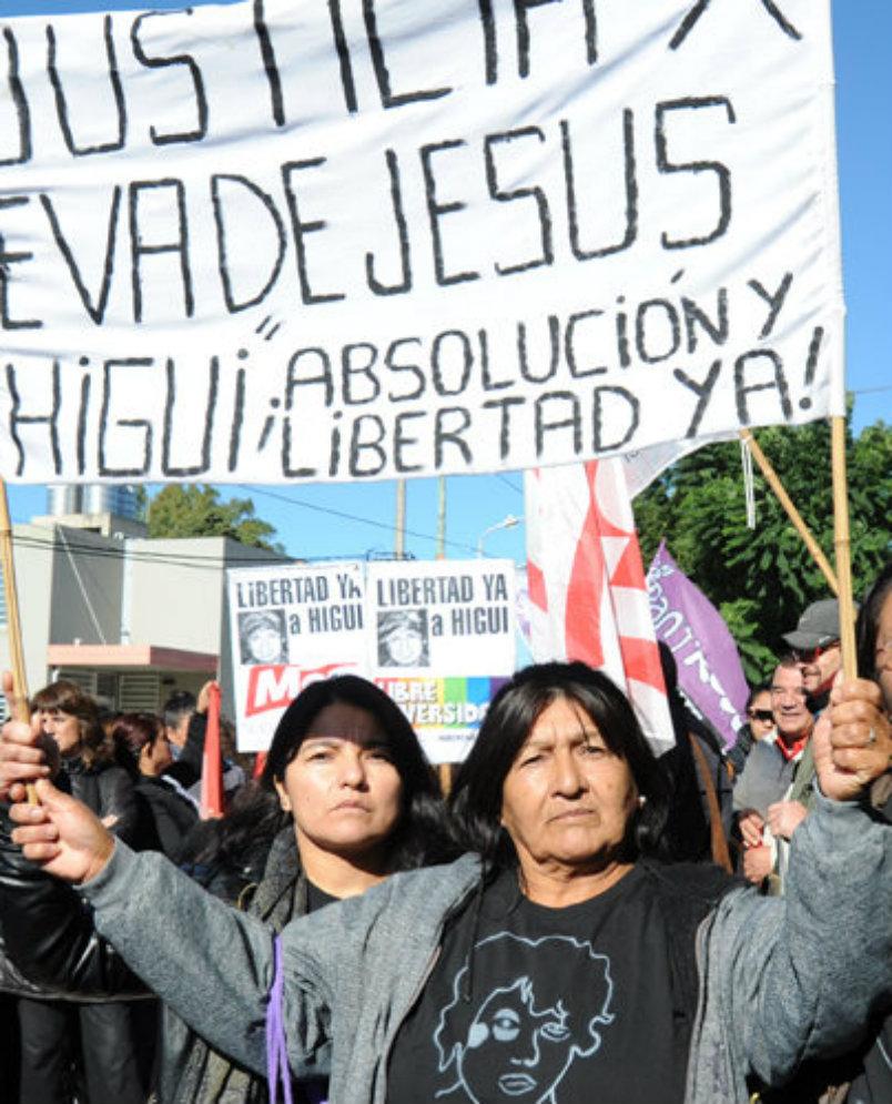 Movilización por la libertad de Higui, presa por lesbiana y pobre