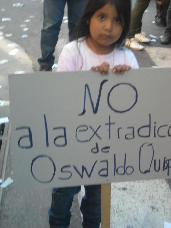 Oswaldo Quispe, preso político en argentina