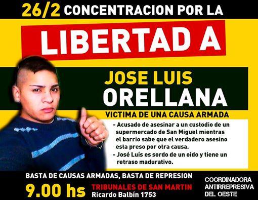 Marcha en San Miguel por la libertad de José Luis Orellana