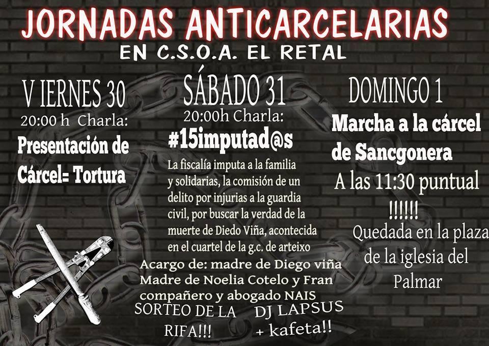 Murcia, España: Jornadas Anticarcelarias