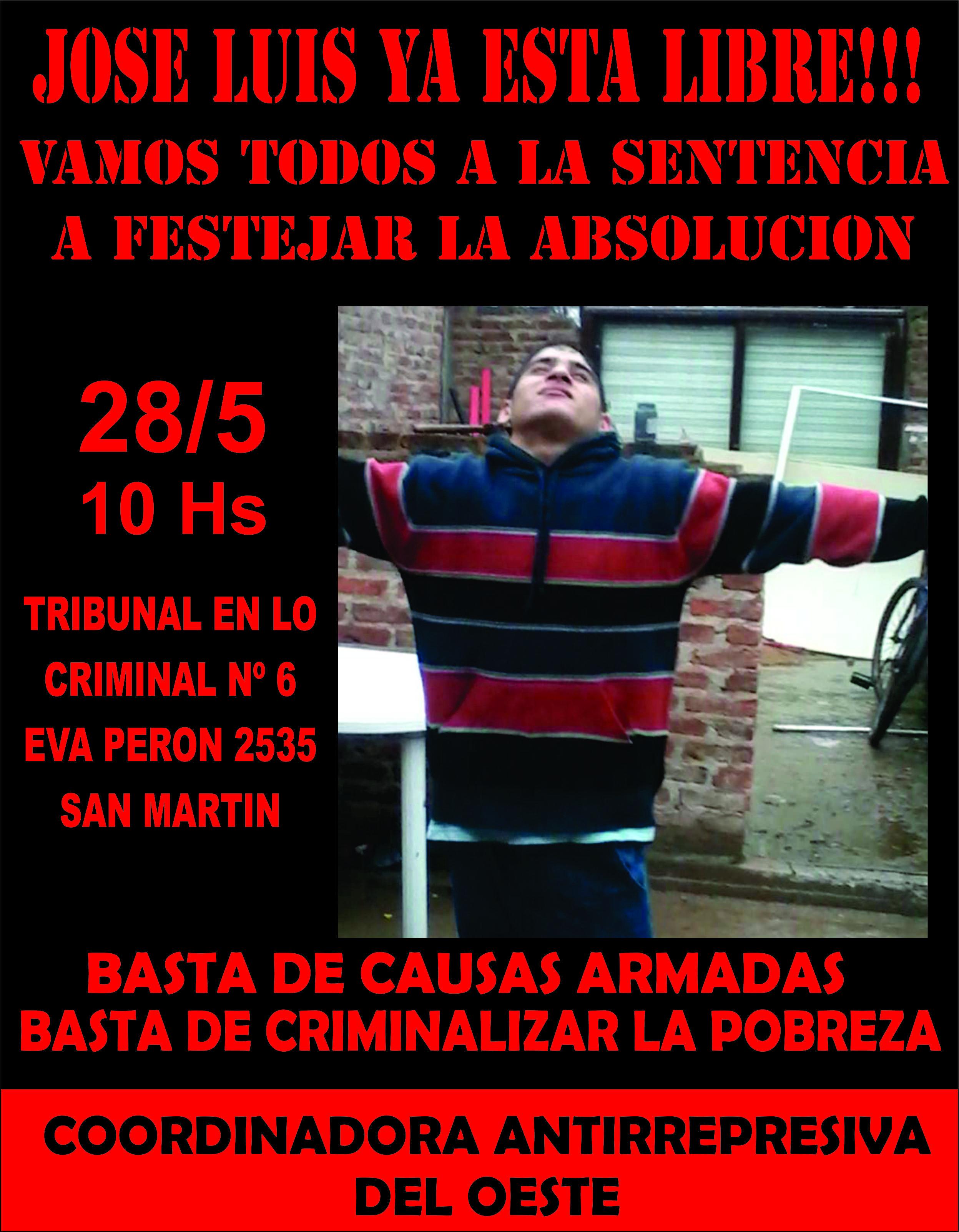 Sentencia absolutoria para José Luis Orellana