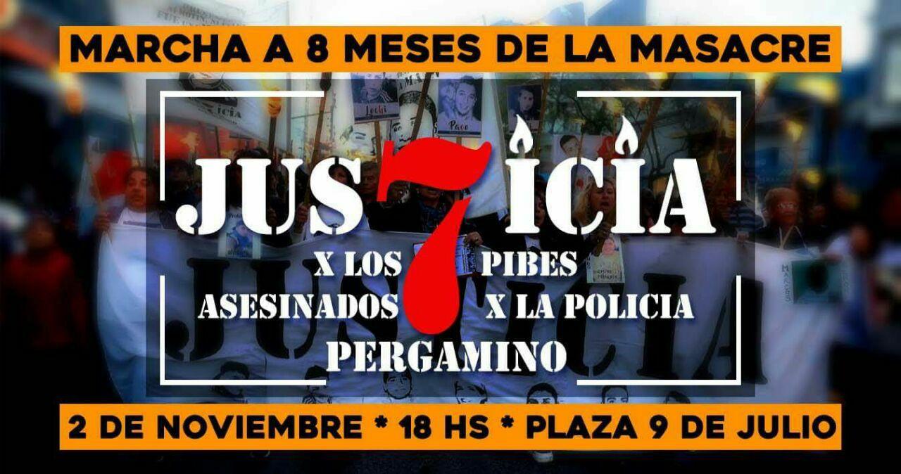 Nueva marcha por Justicia tras la Masacre de 7 pibes en la Comisaría 1° de Pergamino