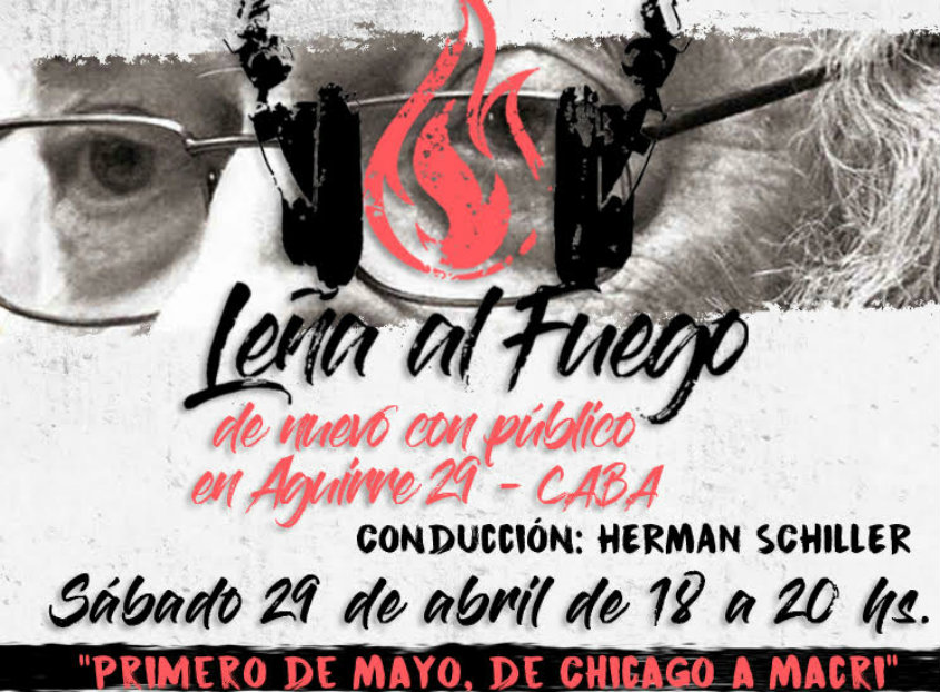 Leña al fuego, otra vez con público en Aguirre 29 Caba - Sábado 29 de 18 a 20  horas