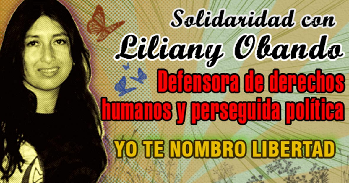 Solidaridad con Liliany Patricia Obando