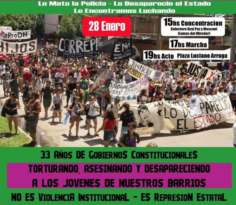 A 8 años: Marcha por Luciano Arruga