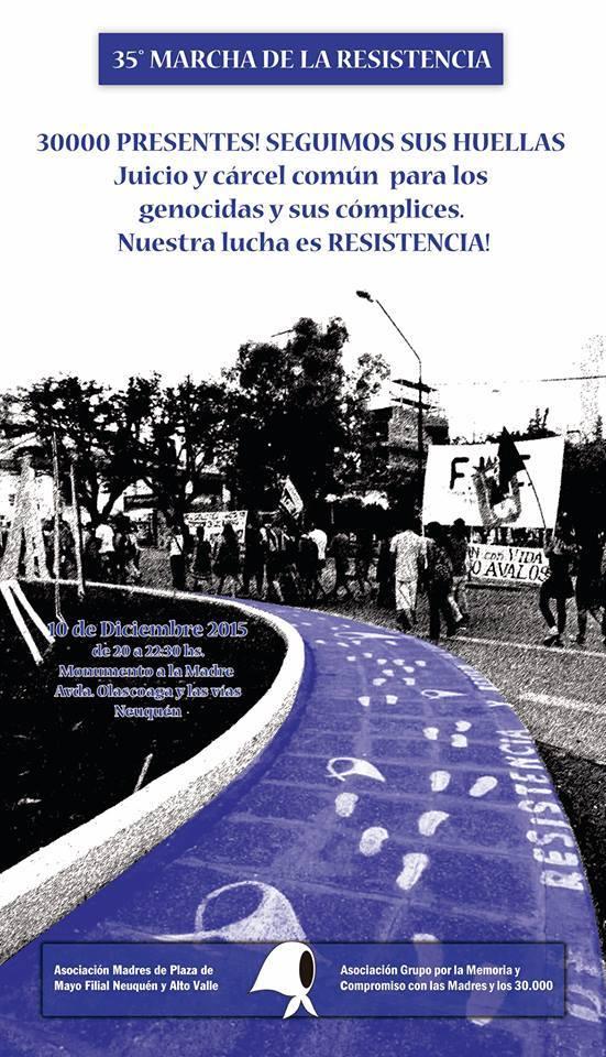 35ª Marcha de la Resistencia - Madres de Plaza de Mayo Filial Neuquén y Alto Valle