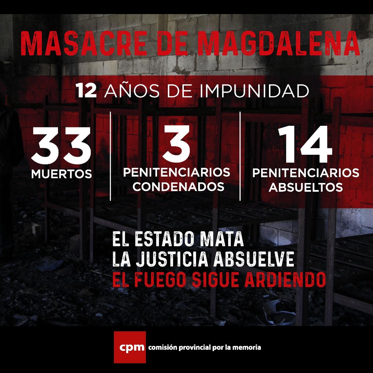 Impunidad sobre la Masacre de Magdalena: Fraternidad inquebrantable entre  la familia penitenciaria  y la familia judicial