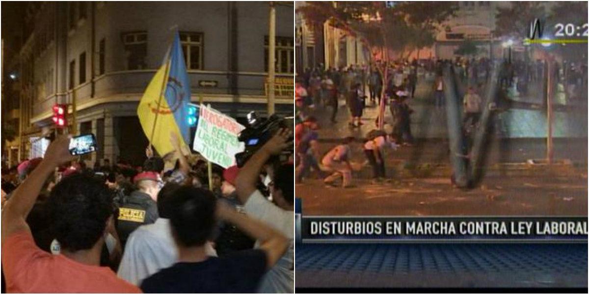 Más de 50 manifestantes detenidos en Perú