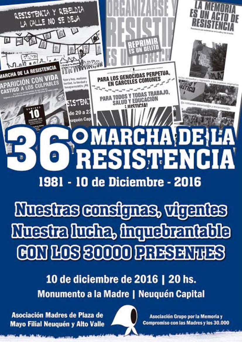 36° Marcha de la Resistencia en Neuquén