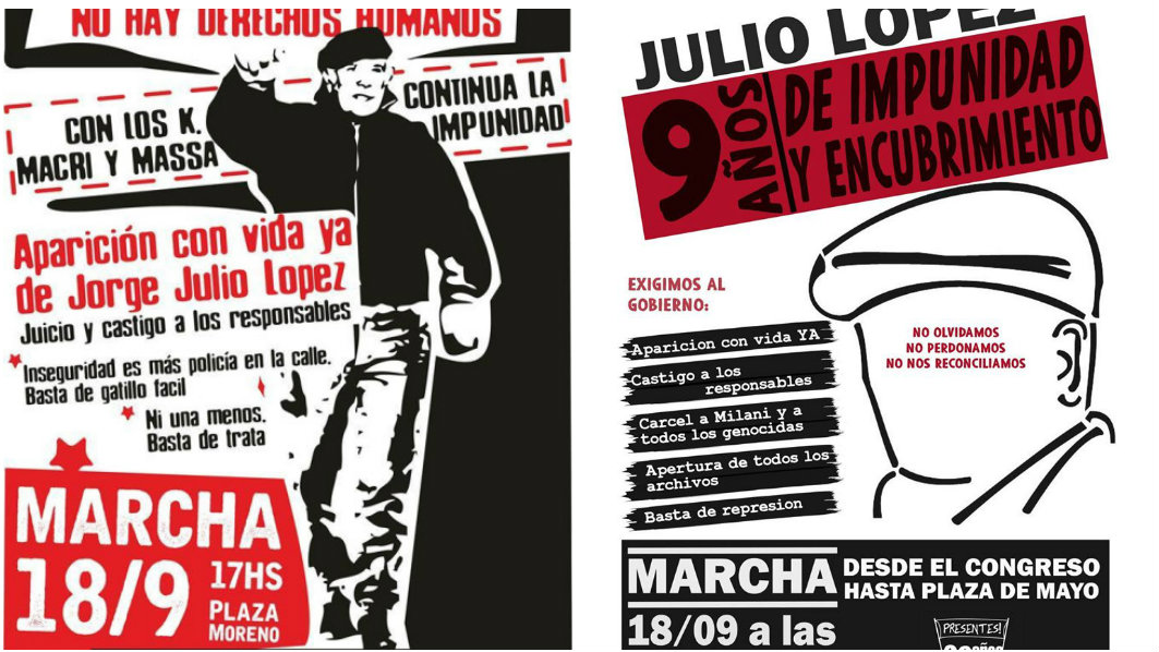 Marchas por Julio López en Buenos Aires y La Plata