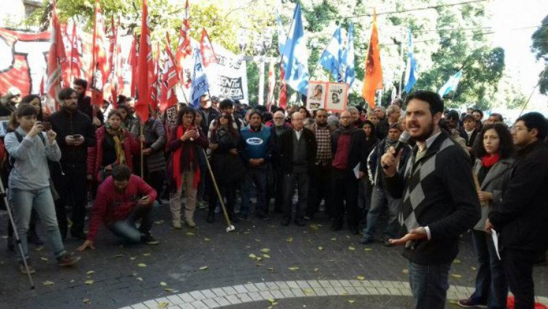 Mendoza: Acto contra el intento de desafuero a legisladores del Frente de Izquierda, criminalizados por luchar