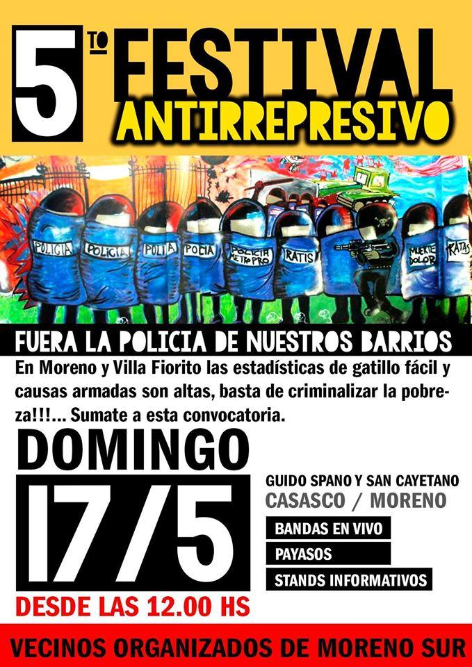 Festival Antirrepresivo en Moreno