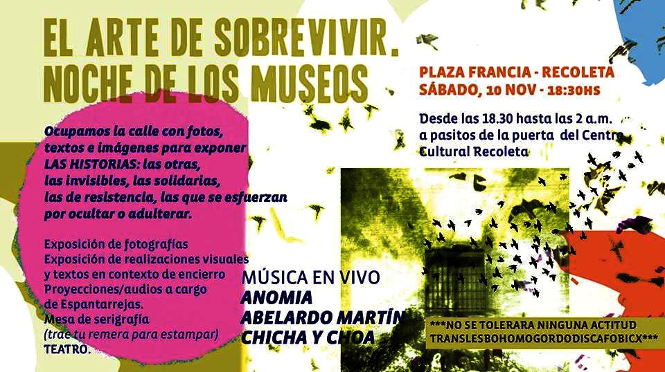Noche, museos, encierro, libertad, muestras
