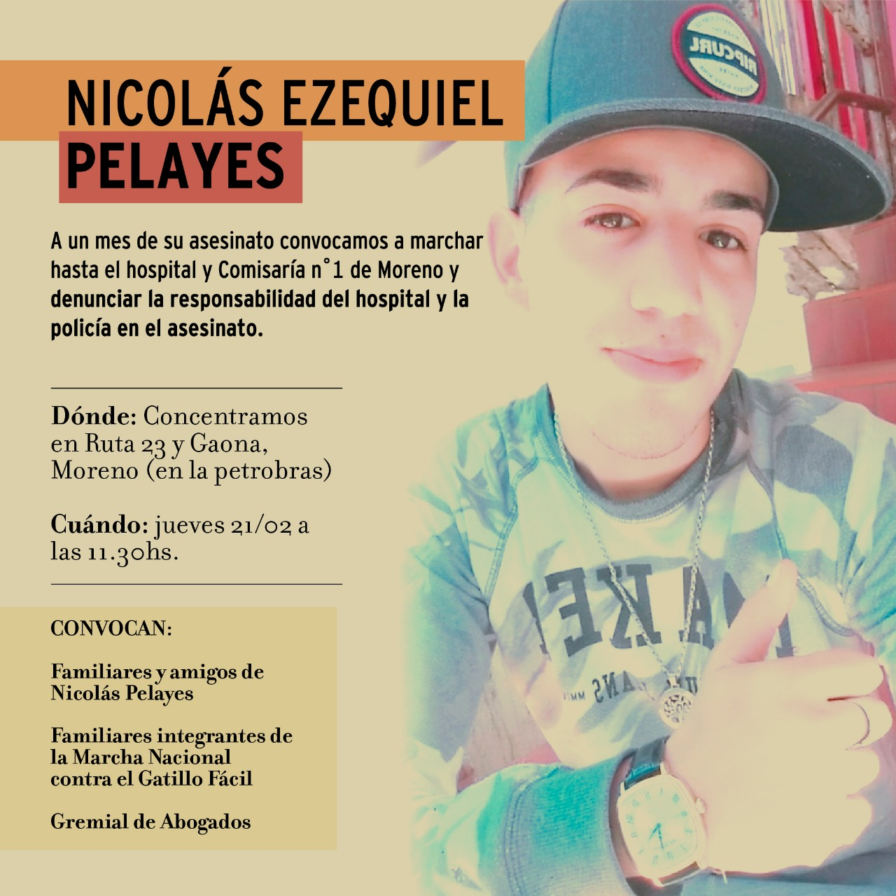 Marcha por Nicolás Pelayes