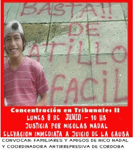 CÓRDOBA: Reclaman la inmediata elevación a juicio por el asesinato de Nicolás Nadal