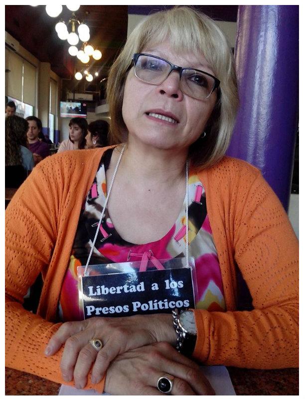 Norma Garrigue: ¡Libertad a los presos de ATE Santa Cruz!