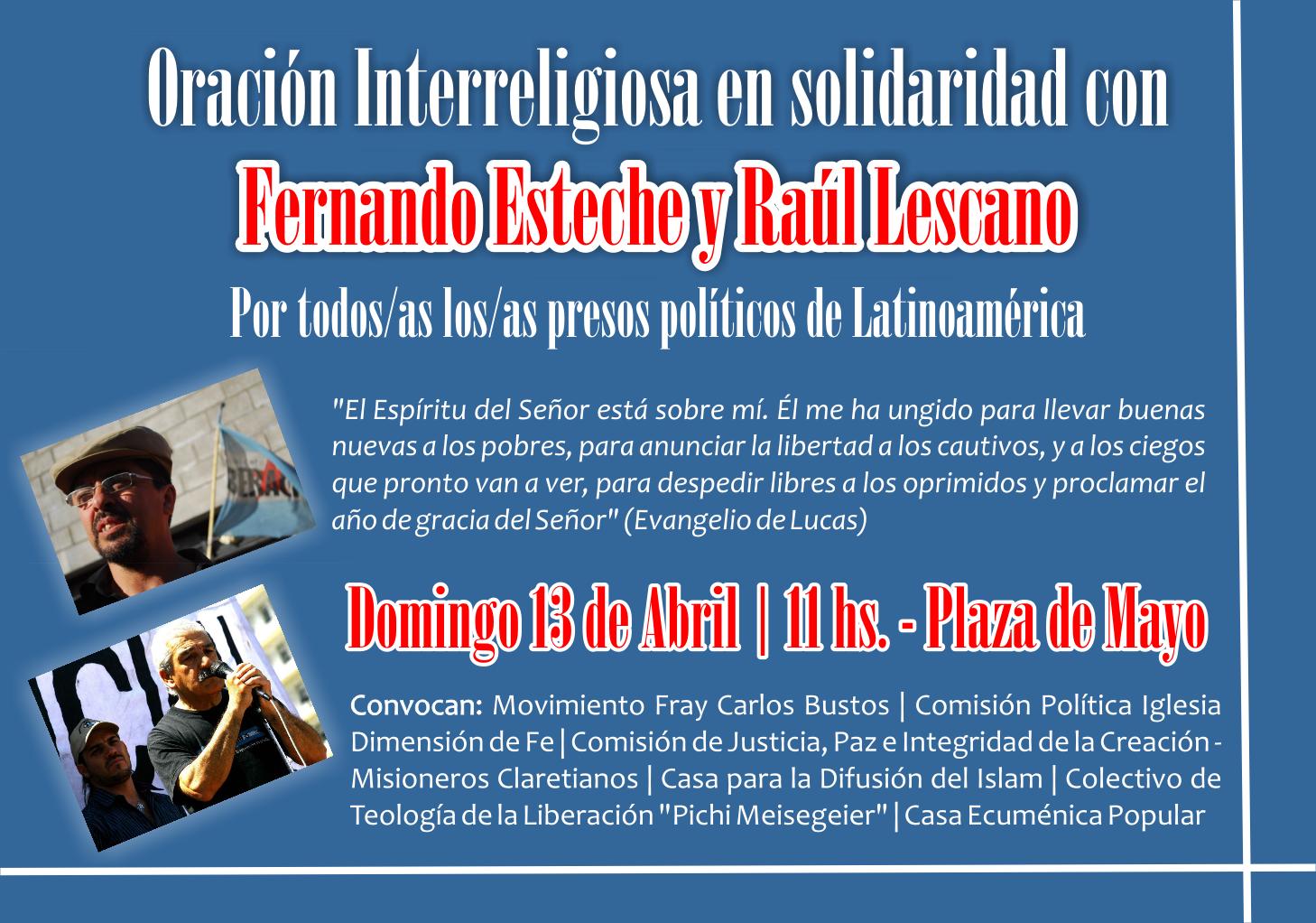 Por la libertad de Esteche y Lescano y todos los presos políticos