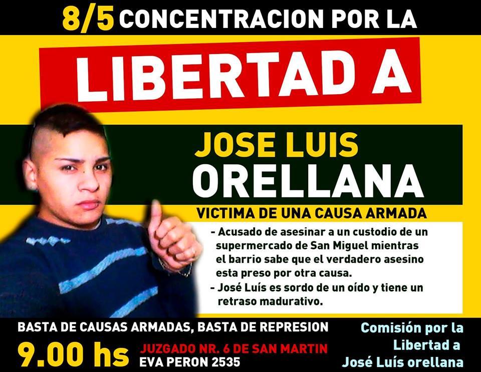 Libertad a José Luis Orellana: ¡Basta de causas armadas!