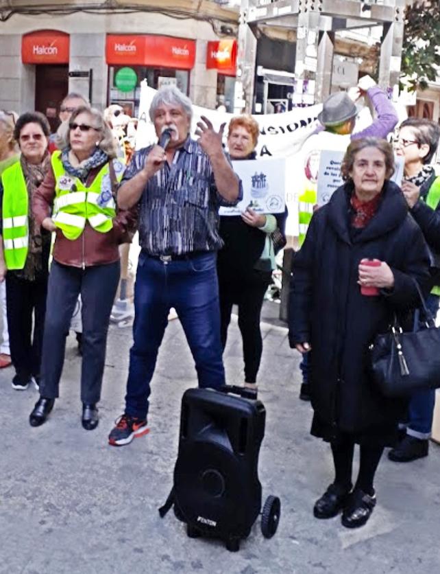 La Agencia Para la Libertad con los jubilados de Málaga