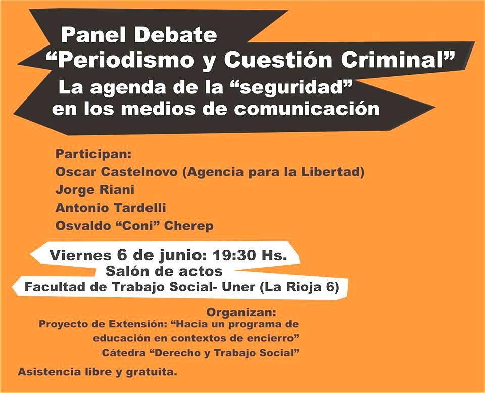 Debate en Paraná: Periodismo y las cuestión criminal