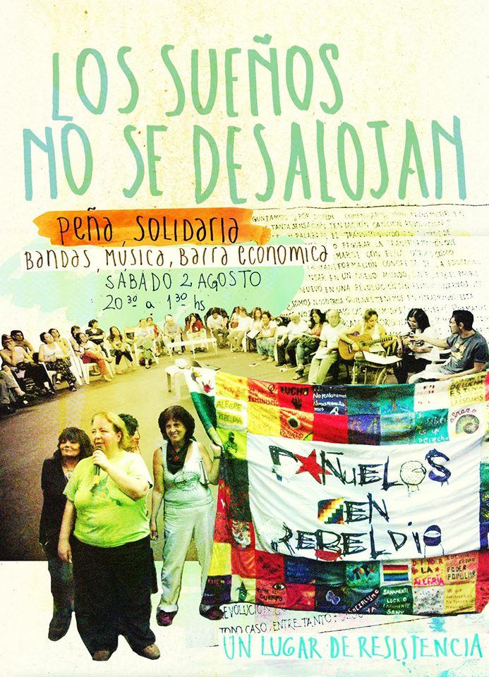 Espacio Cultural Pompeya: Peña Solidaria contra el desalojo