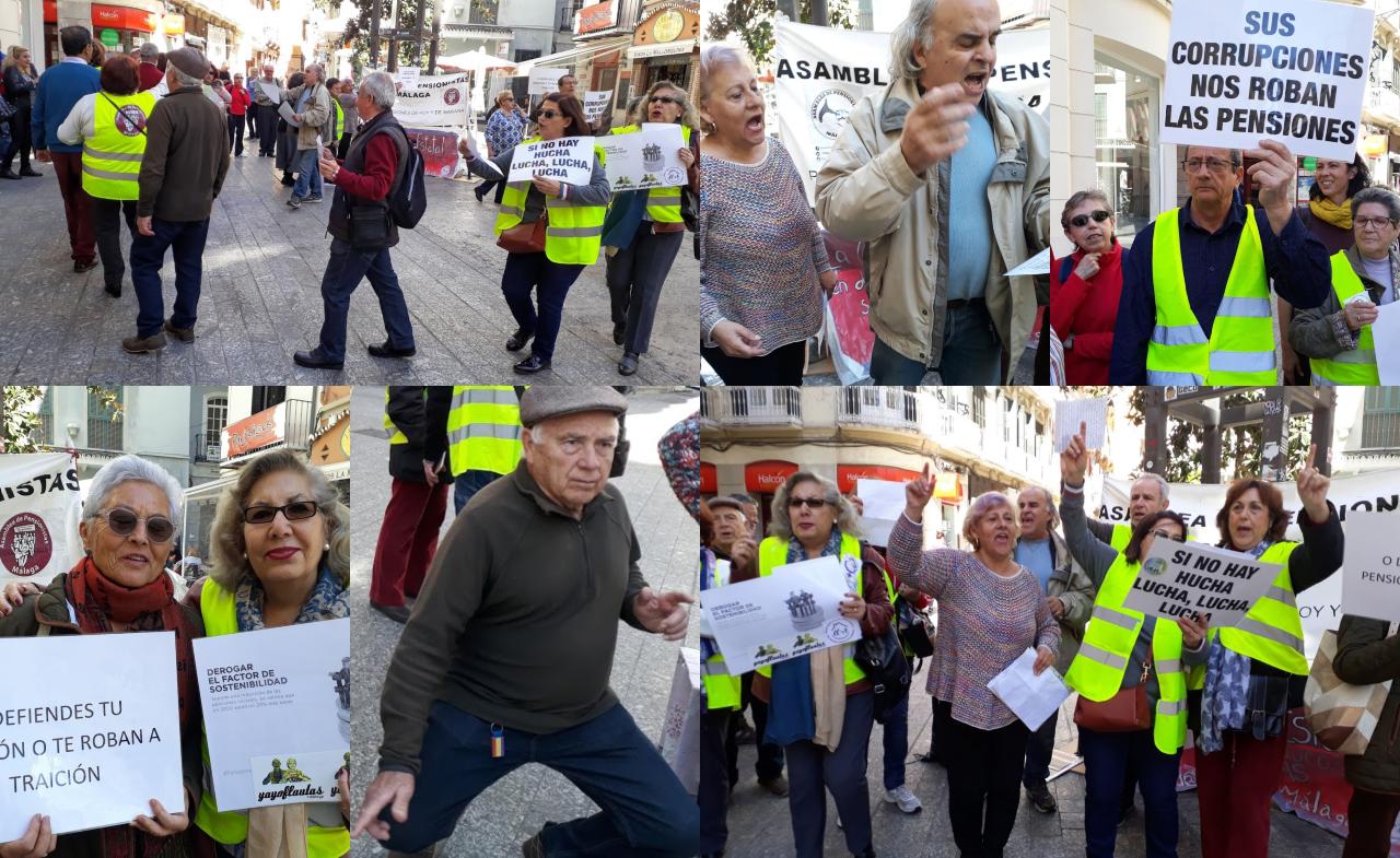 """Málaga: """"¡Gobierne quien gobierne, las pensiones se defienden!"""""""