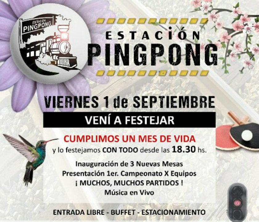 Estación Ping Pong: Primer campeonato por equipos