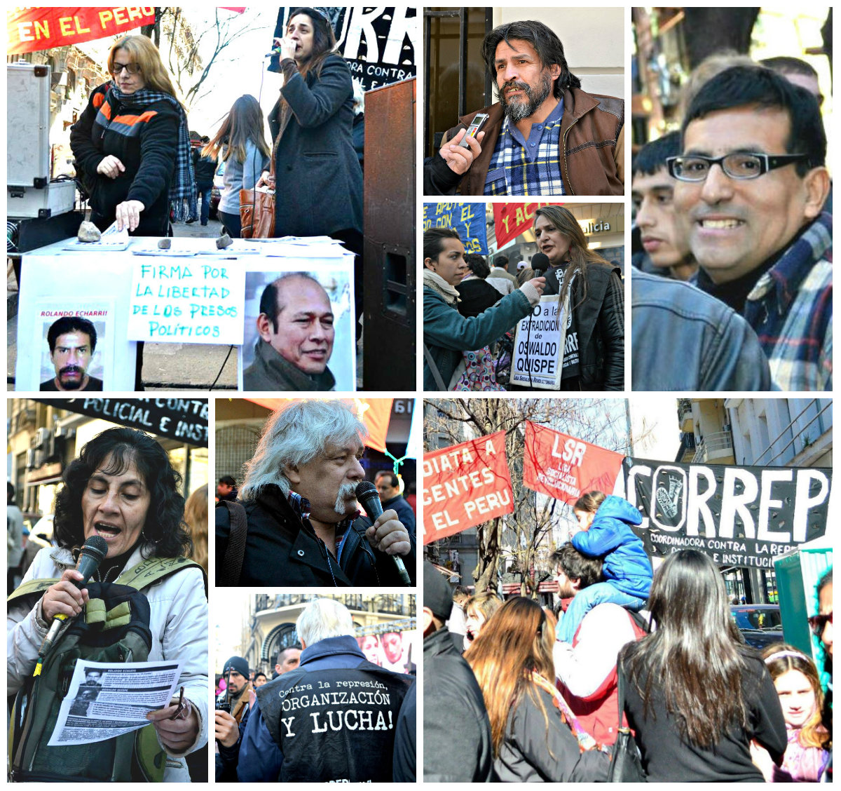 ¡No a la extradición de los compas peruanos!, el grito que no cesa