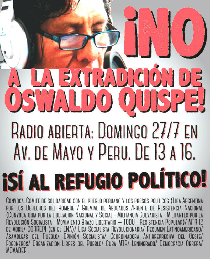 Radio abierta contra la extradición