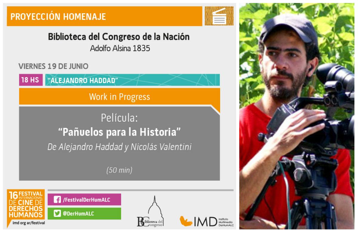 Homenaje a Alejandro Haddad en Festival Internacional de Cine de Derechos Humanos
