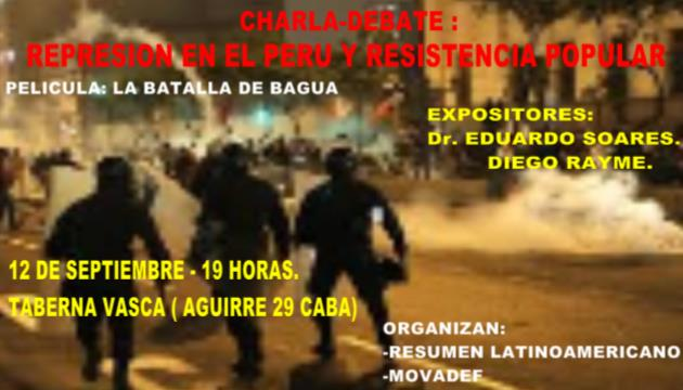Represión y resistencia popular en el Perú