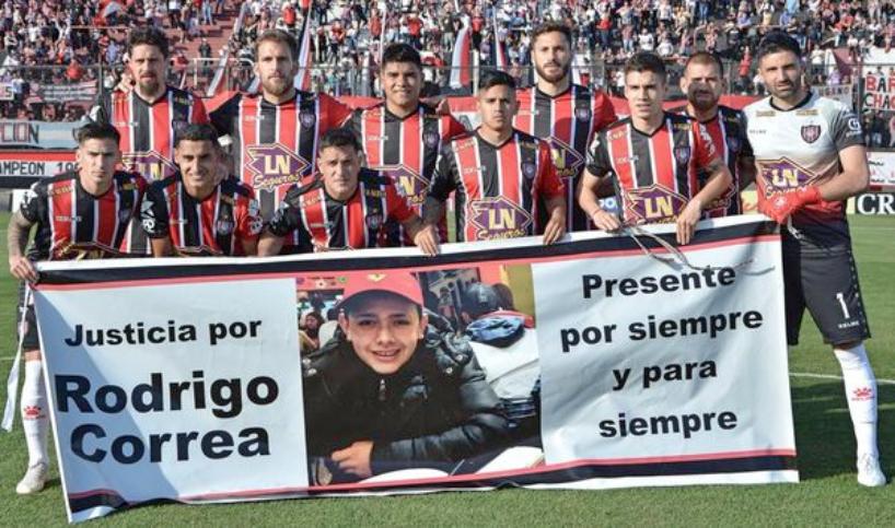 Los jugadores de Chacarita reclamaron Justicia por Rodrigo Correa