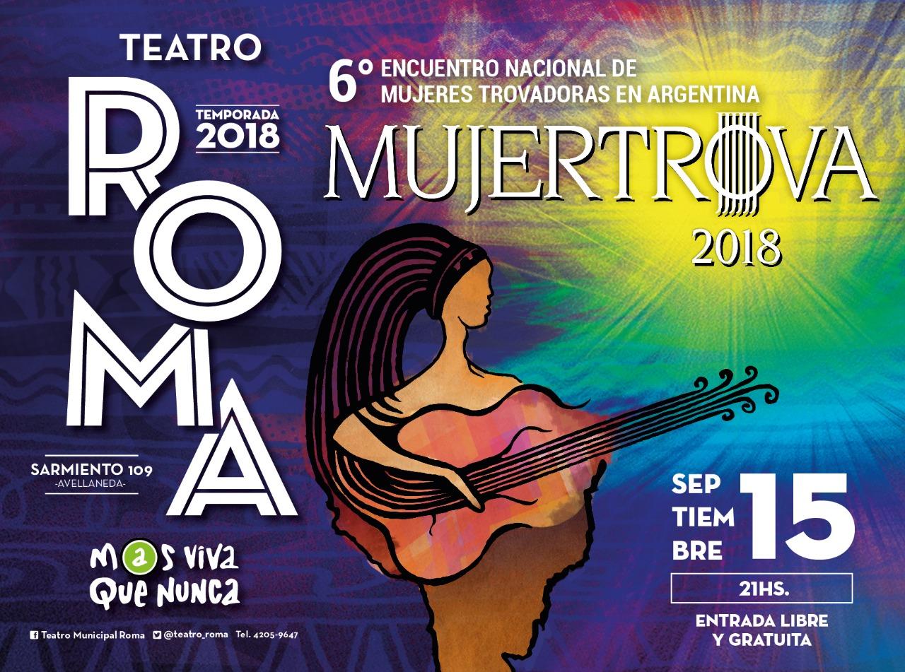 15/9- 21 horas: Concierto de Mujertrova en el Teatro Roma de Avellaneda